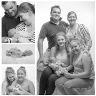 Tim, Karla, Lauren, Lucy and Lily - collage and ideal facebook profile shot of the new family!