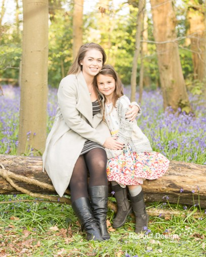 Mother and Daughter bluebells shoot