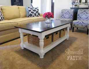 Turned-Leg Coffee Table