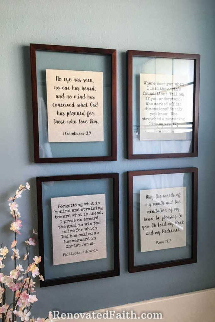 DIY Floating Frame Tutorial {Reminders of God\'s Word in Our Home}