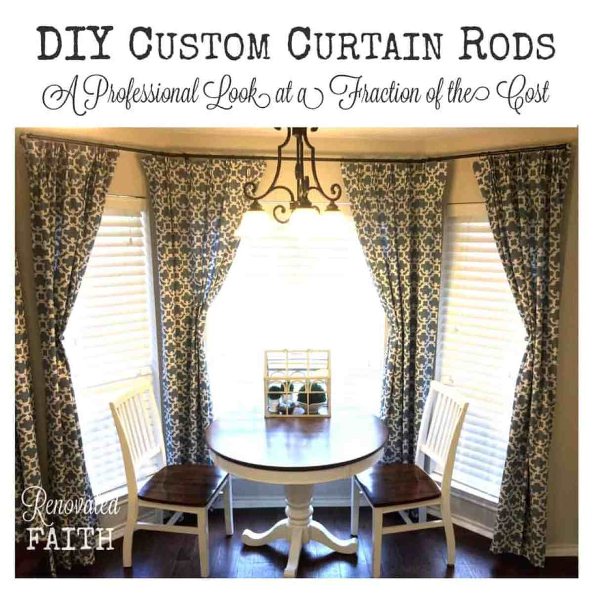 DIY Custom Curtain Rods