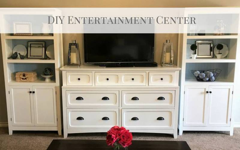 DIY Entertainment Center (without building a thing!)