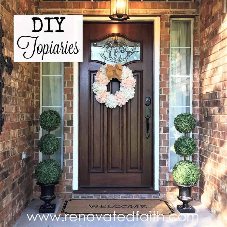 Front Door Topiaries