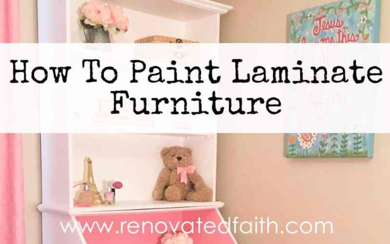 How To Paint Laminate Furniture {So It Looks Like Painted Wood}