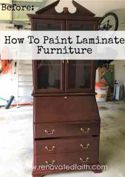 How To Paint Laminate Furniture - Before