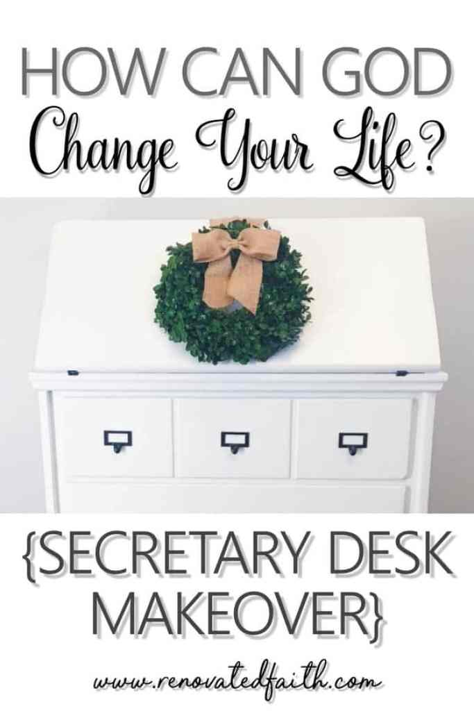 God does not want you to try harder. He wants you to trust Him deeper. Stop trying and start trusting. You will be amazed at the work He does through you. - How Can God Change Your Life? Secretary Reveal #transformation #makeover #secretarydesk #renovatedfaith