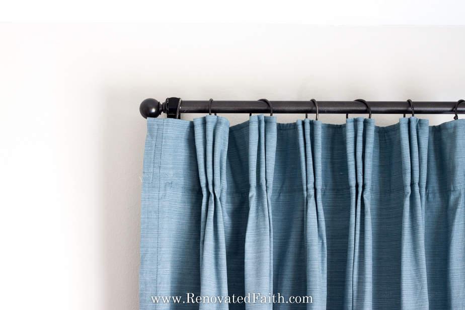 diy pinch pleat curtains add a pinch