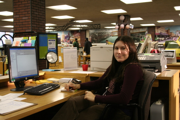 Me as a Library Technical Assistant in 2006