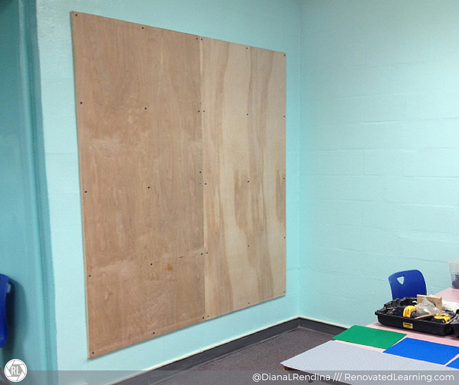 """The 80"""" x 80"""" plywood mounted and ready. 