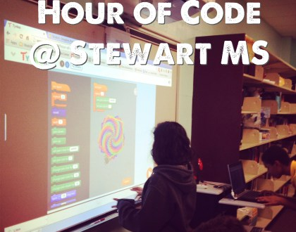 Celebrating Hour of Code at Stewart MS