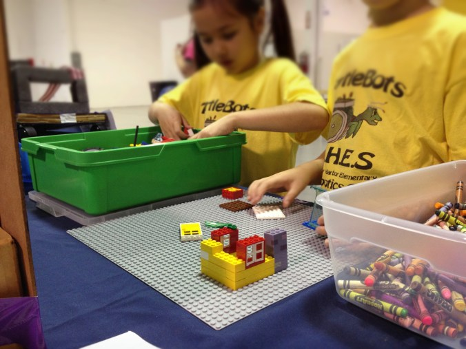 Little LEGO makers at our booth