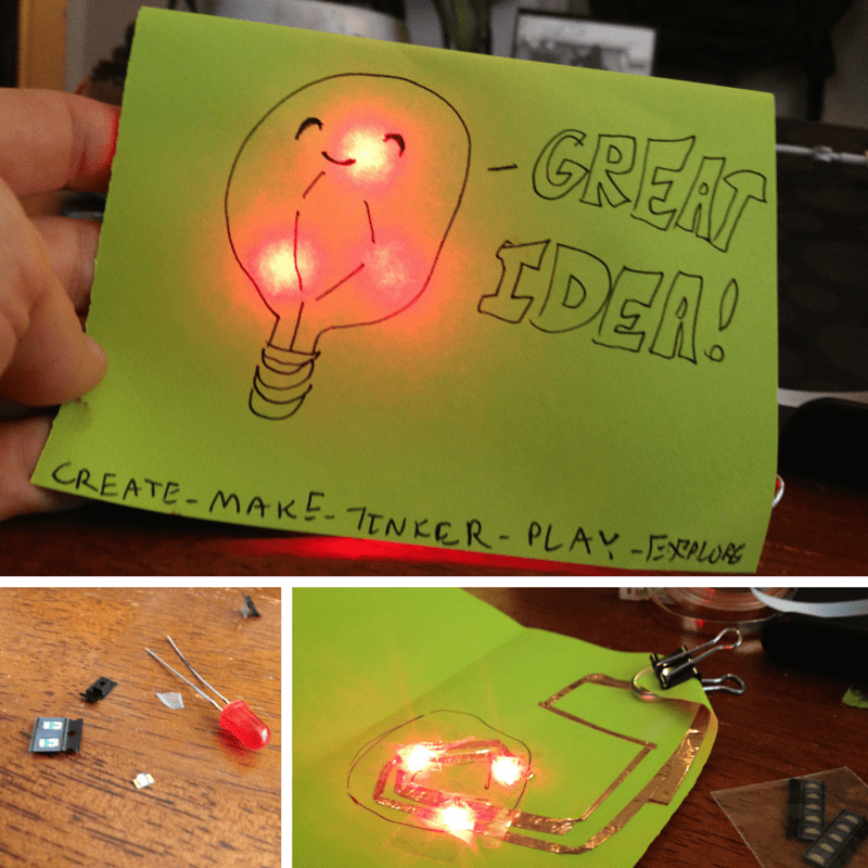 My first paper circuit