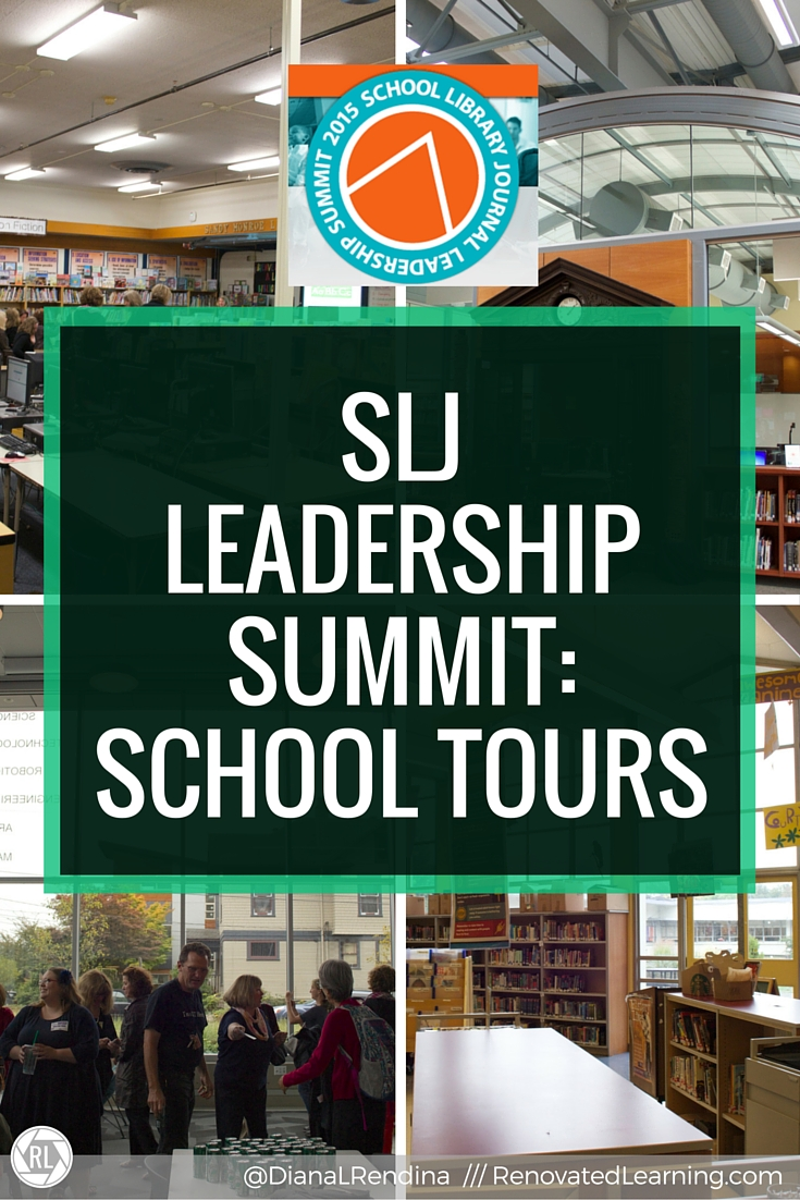SLJ Leadership Summit: School Tours | As a part of the 2015 SLJ Leadership Summit, there were school tours to four local schools, including elementary, middle, high and private.  These tours gave a great snapshot of the state of school libraries in Seattle, WA.