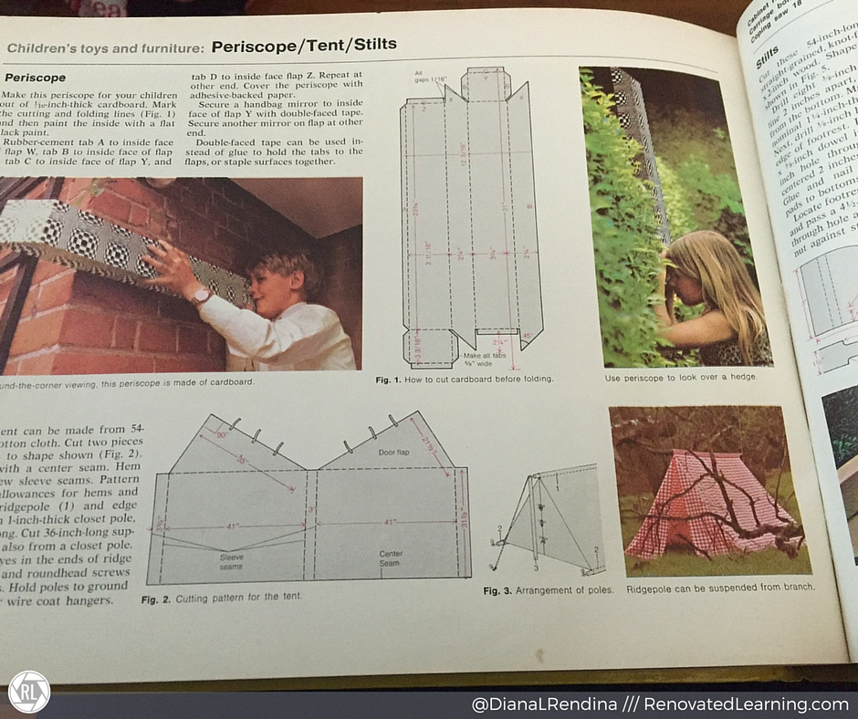 Periscope, tent & stilts | How can you not want to make stuff like this? |  RenovatedLearning.com