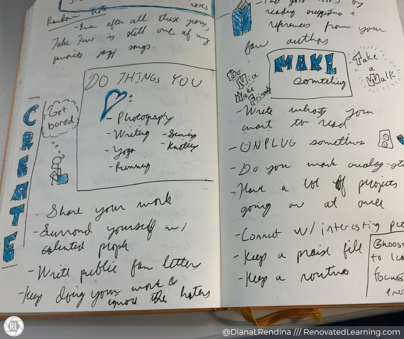 Some of the notes I took on Steal Like An Artist | RenovatedLearning.com