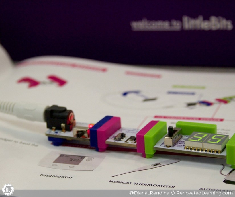 The littleBits Temperature sensor in action. Part of the littleBits STEAM Student Set. | RenovatedLearning.com