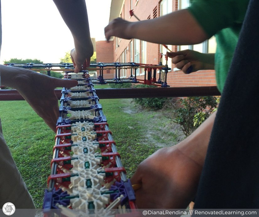 Students trying out an outdoor launch | RenovatedLearning.com