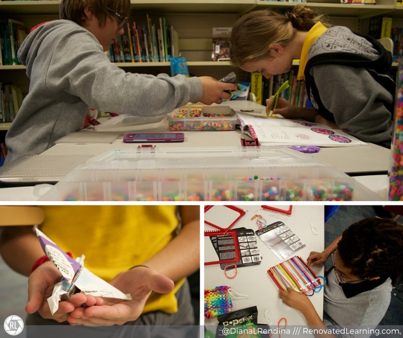 Make and Takes: Perler beads, recycled origami, loom weaving