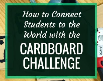 How to Connect Students to the World With the Cardboard Challenge | In my AASL post, I talk about how maker projects and makerspaces are fantastic for connecting your students globally. Here's how you can use the Global Cardboard Challenge and Skype.