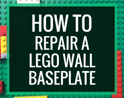 How to Repair a LEGO Wall Baseplate | When you build a LEGO wall, you will occasionally have to fix and reglue a baseplate. Here's how.