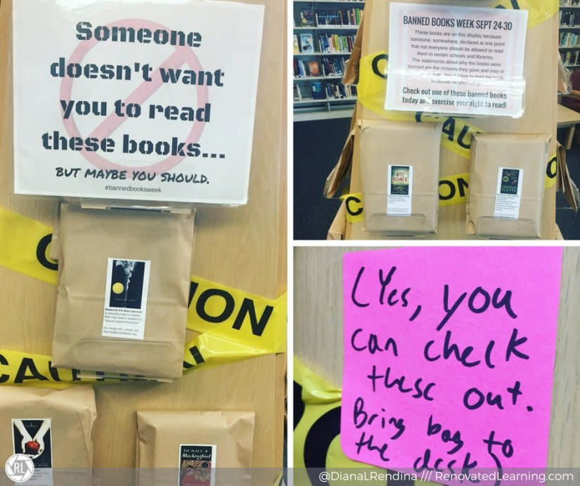 Banned Books Display in the library