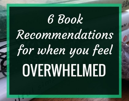 6 Book Recommendations for When You Feel Overwhelmed : Feeling the stress weighing you down? Too much on your plate. Read these six minimalist books.