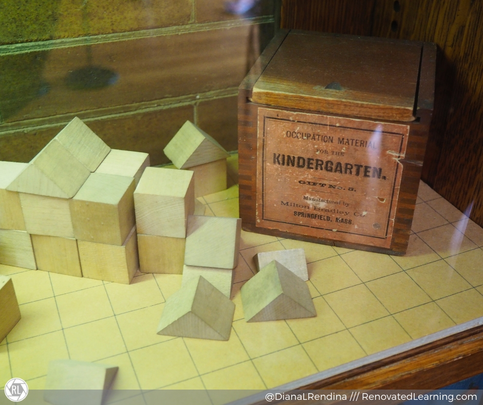 Frobel's Blocks in Frank Lloyd Wright's home in Chicago