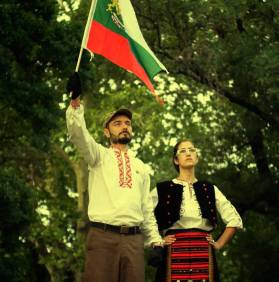 #ДАНСwithme Protesting in traditional Bulgarian dress.