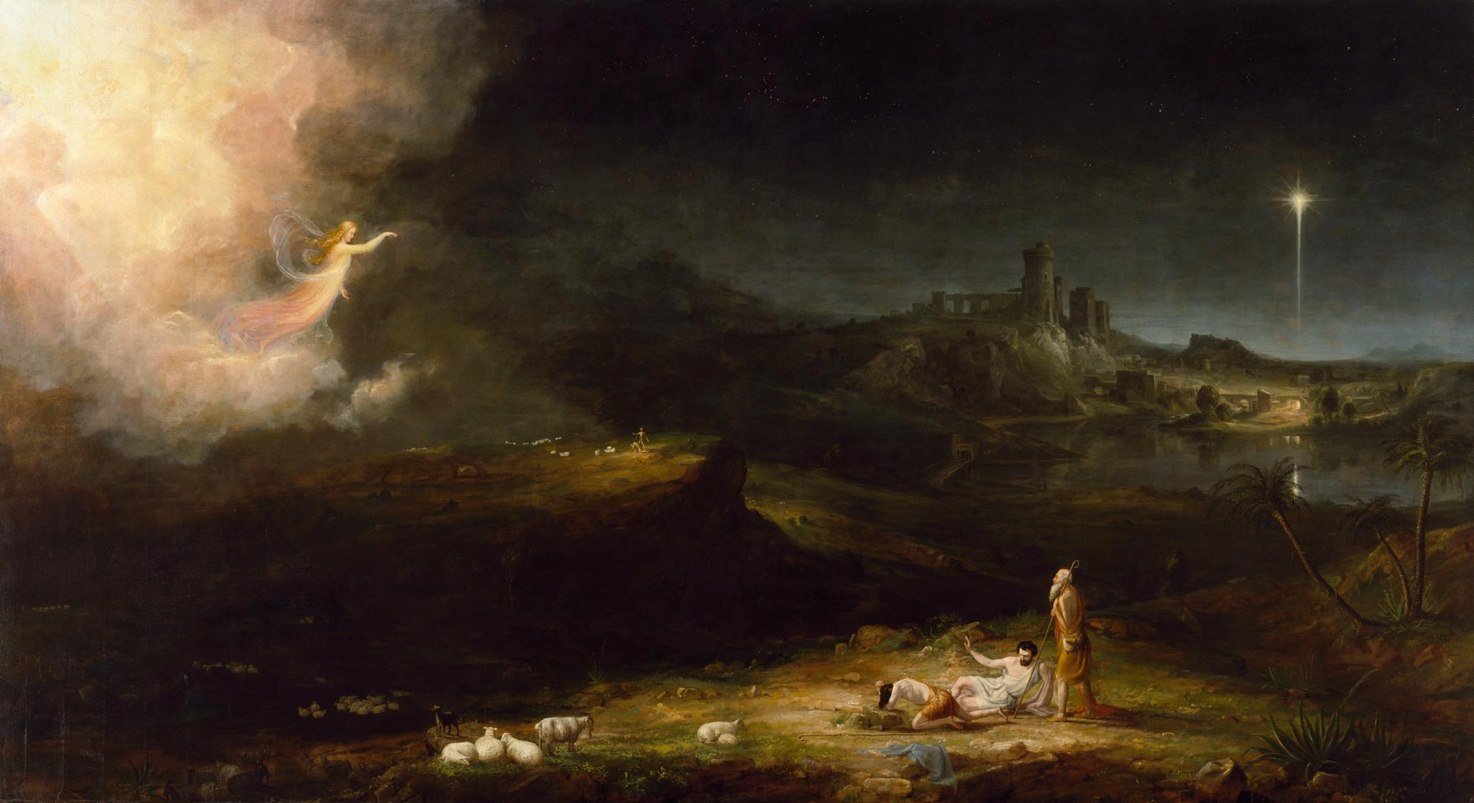 Thomas Cole – The Angel Appearing to the Shepherds
