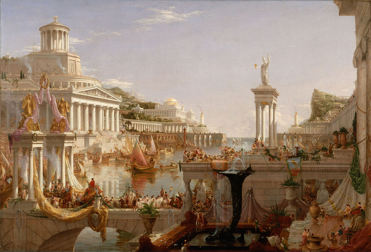 Thomas Cole – The Course of the Empire – The Consummation