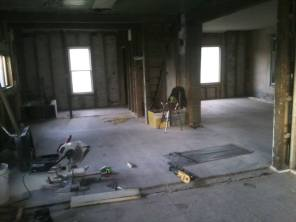 Future kitchen, can't wait to put my island smack dab in the middle there!