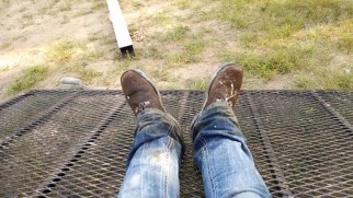 My poor, tired, wet and aching footums... not to mention my poor boots, this was their third bath after spending hours covered in wet cement.