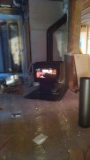 A wood stove, right where my grandma's kitchen stove used to be... brought tears to my eyes.