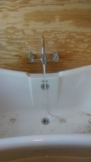 Getting the water running through new plumbing in a 100 year old farm house diy