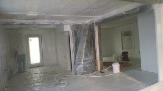 The kitchen all primed and ready for paint!