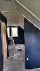 master bedroom dark gray