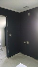 master bedroom dark gray paint