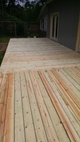 In one week we (mostly Joe) completed the deck with only the railing to go!