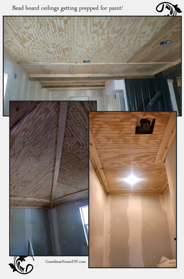 bead board and trim ceilings