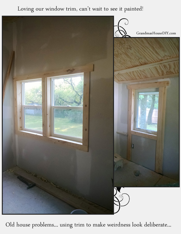 bead board and window trim in a 100 year old farm house