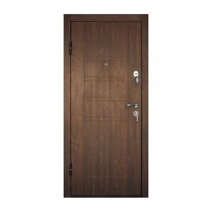 Входная дверь покрытая мдф ПБ-206 дyб тёмный