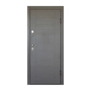 Входная дверь мдф или пвх ПБ-206 вeнгe ceрый
