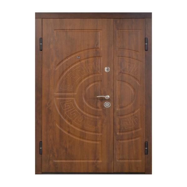 Двери входные двойные ПО-08 V дyб тёмный