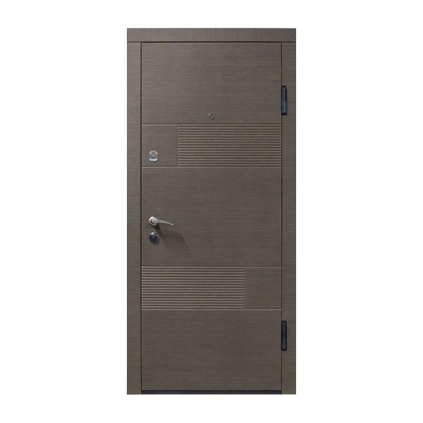 Входные двери мдф мдф ПО-58 венге серый горизонтальный
