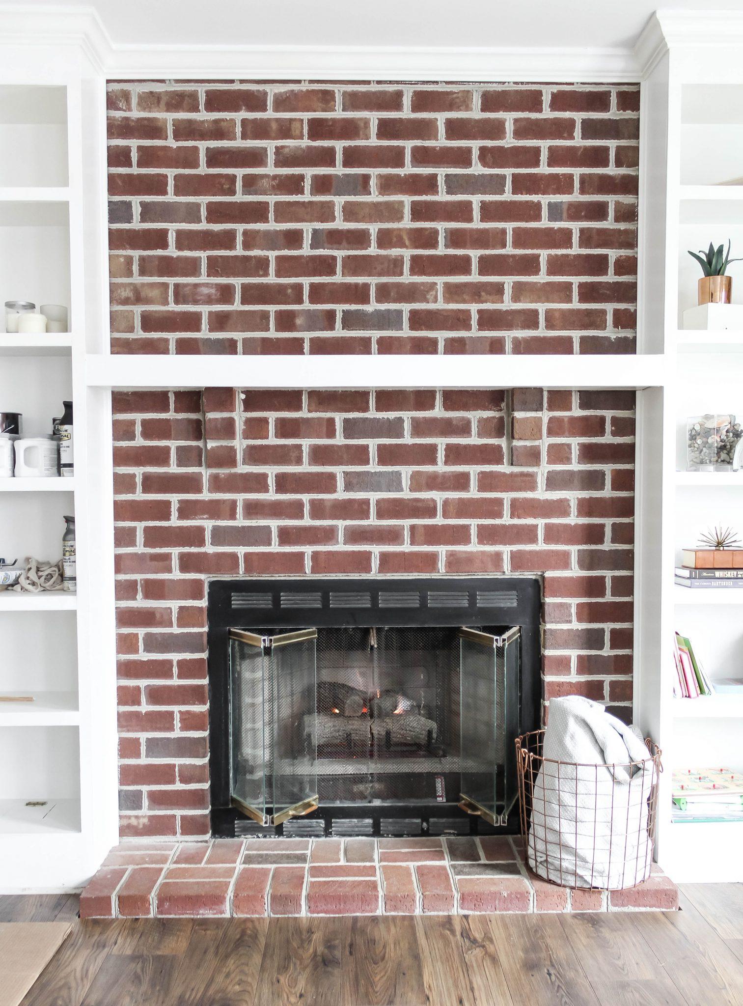 Painting Brick Fireplace White