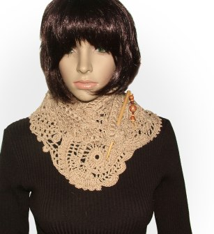 Cafe Latte no pattern scarf