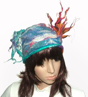 Fire & Flood felted beanie
