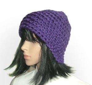 purple chunky beanie