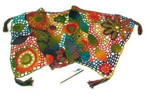 freeform shawl rainbow