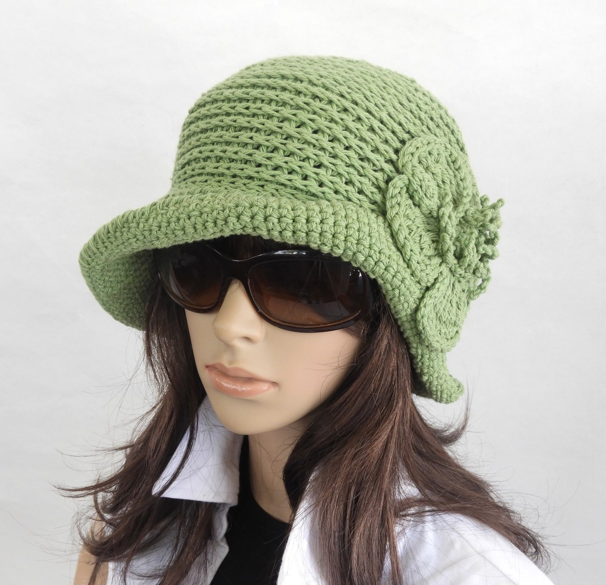 My summer crochet cloche/hat collection.